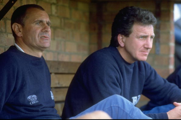 Derby County Manager Arthur Cox and Roy McFarland