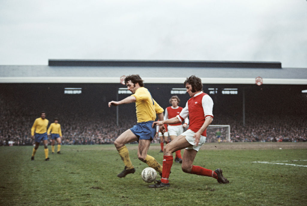 Arsenal v Derby County Division One 1974